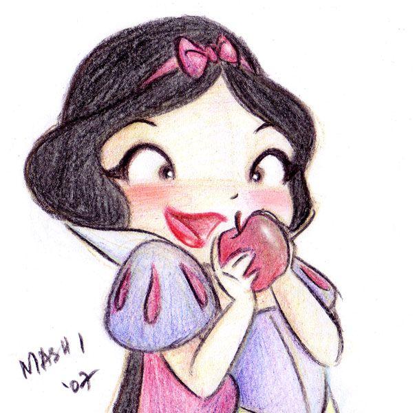 "Cuteness! Really enjoy Mashi's art A deviantART. ""Oh, an apple.."" by *mashi"