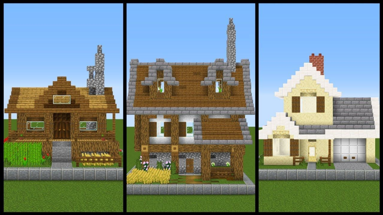 12 Simple ONE CHUNK Minecraft House Designs - YouTube  Minecraft