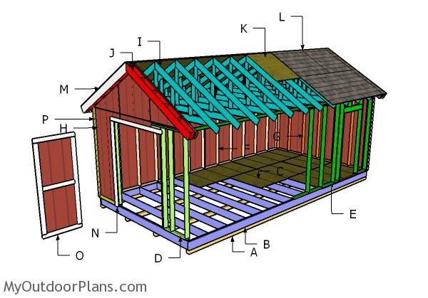 Building A 12x24 Shed 12x24 Shed Shed Plans Diy Shed Plans