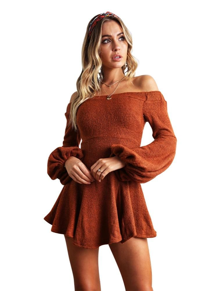 9ad3bb16696 Long Sleeve Off The Shoulder Skirt Dress – Lilacoo