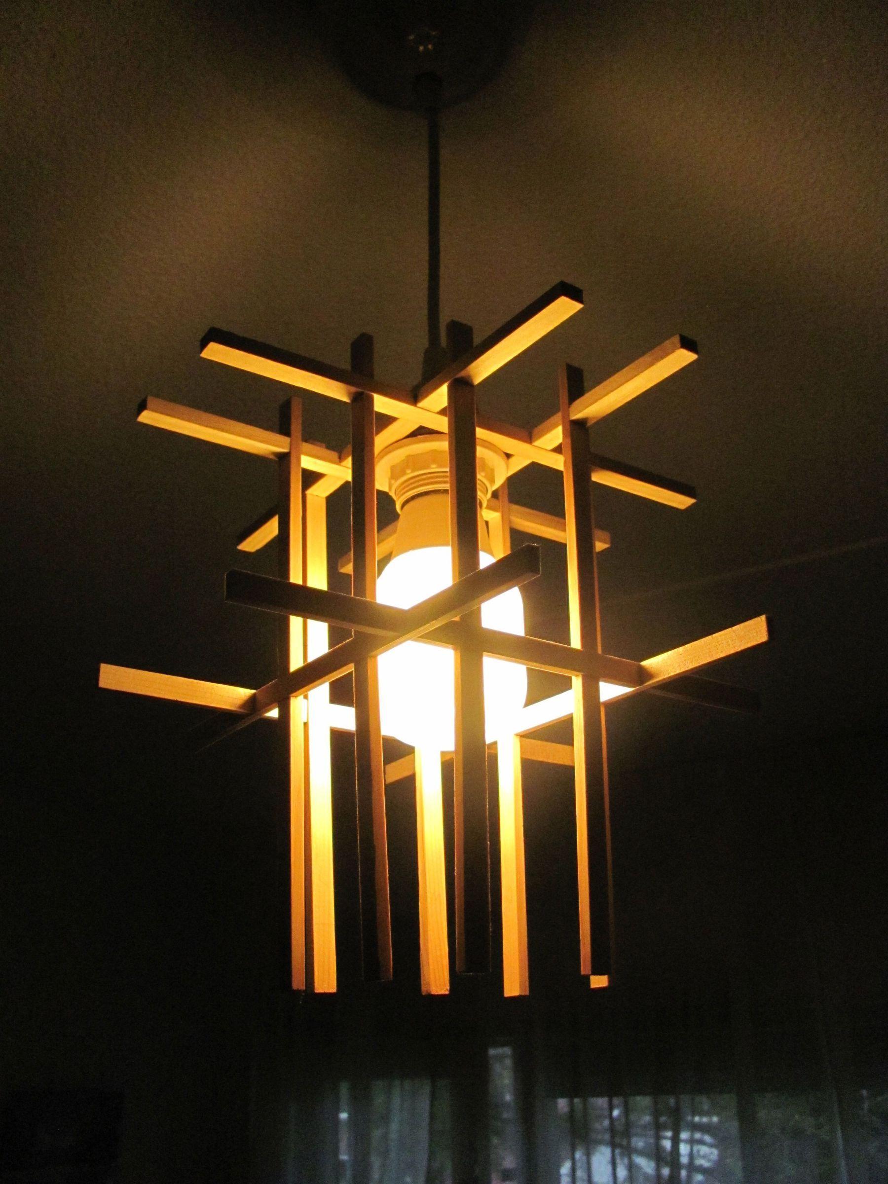 Wooden Lampshade Hanging Lamp Design Diy Lamp Shade Wooden Lampshade