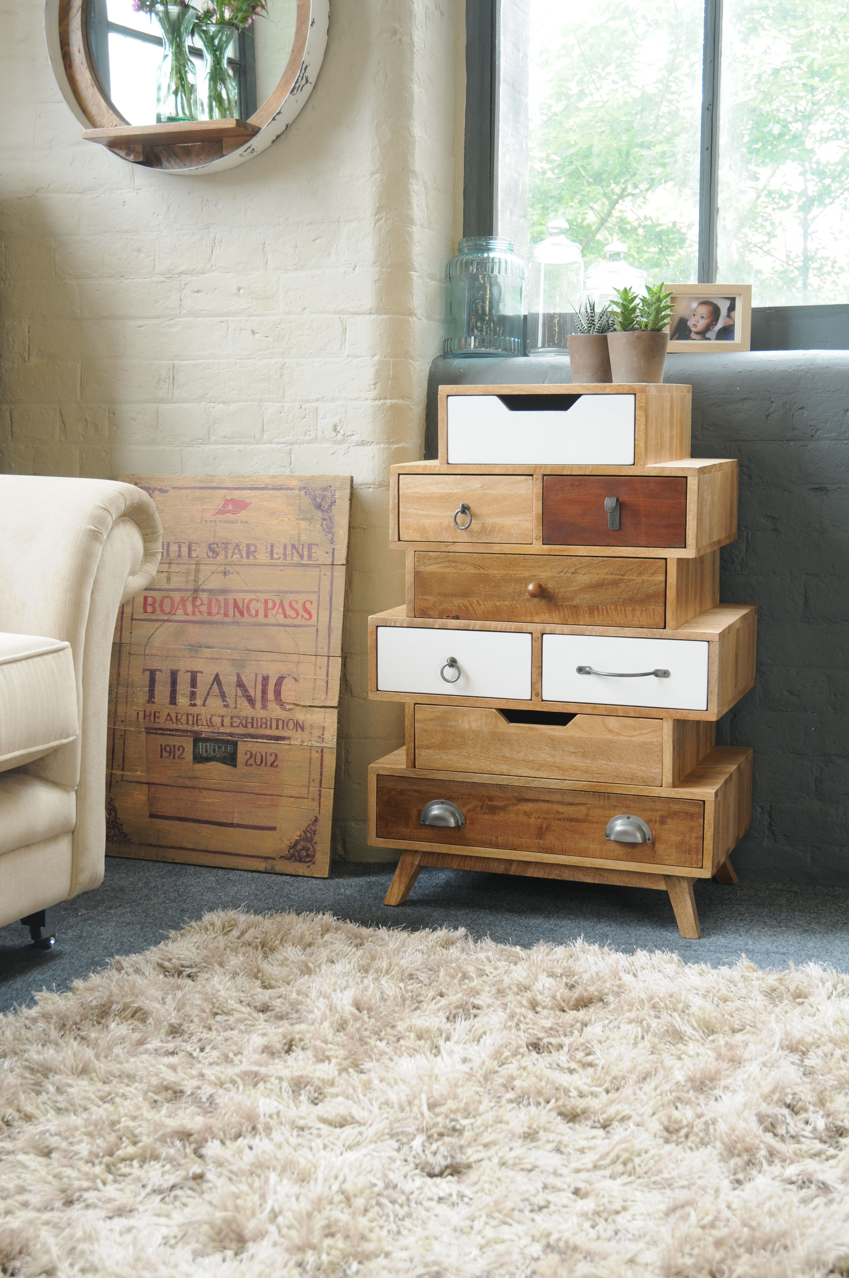 World Menagerie Mellal 20 Drawer Chest in 20  Chest of drawers