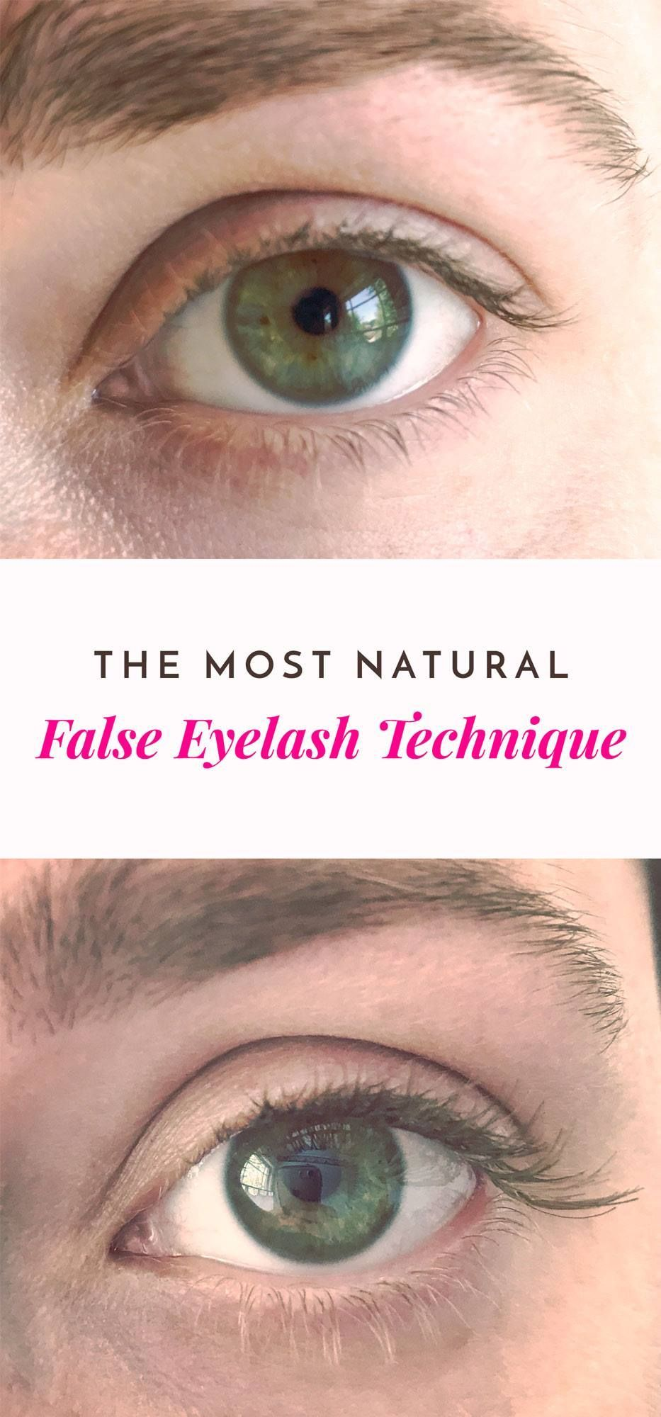 The Best Most Natural False Eyelash Technique How To Do Fake