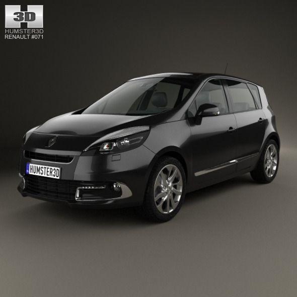 Renault Scenic 2013. Car 3D model. #3D #3DModel #3DDesign #2013-2016 #5-door #CompactCar #facelift #france #french #hatchback #renault #RenaultScenic #scenic