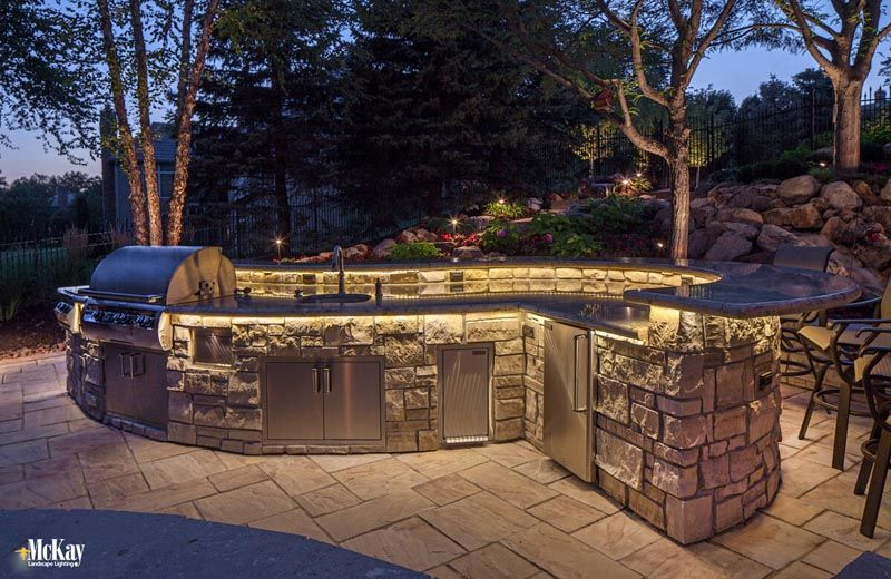 Outdoor Kitchen Lighting Omaha Ne Mckay Landscape Lighting M Landscape Lighting Outdoor Outdoor Kitchen Cabinets