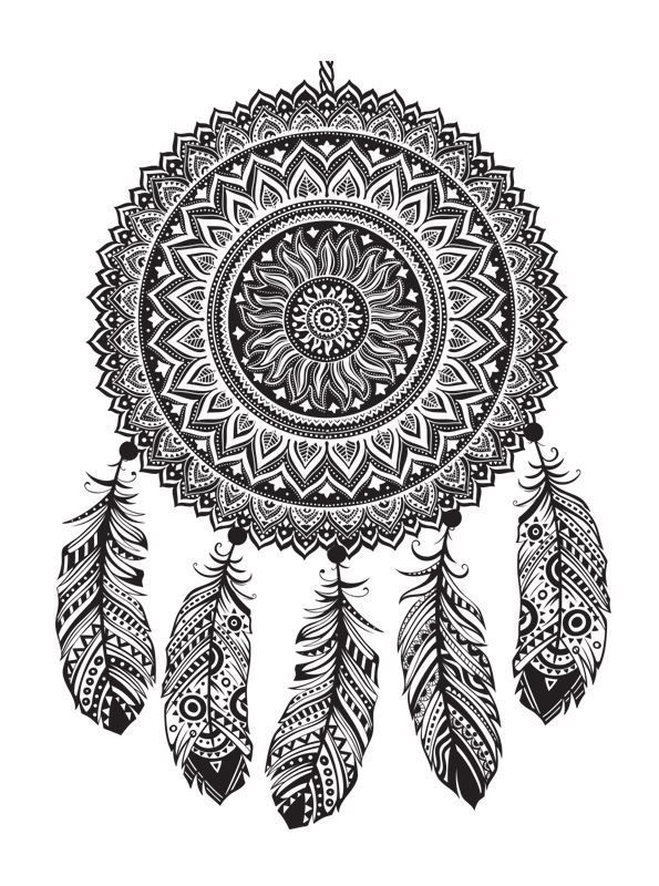 16 coloring pages of dreamcatchers on kidsnfuncouk on