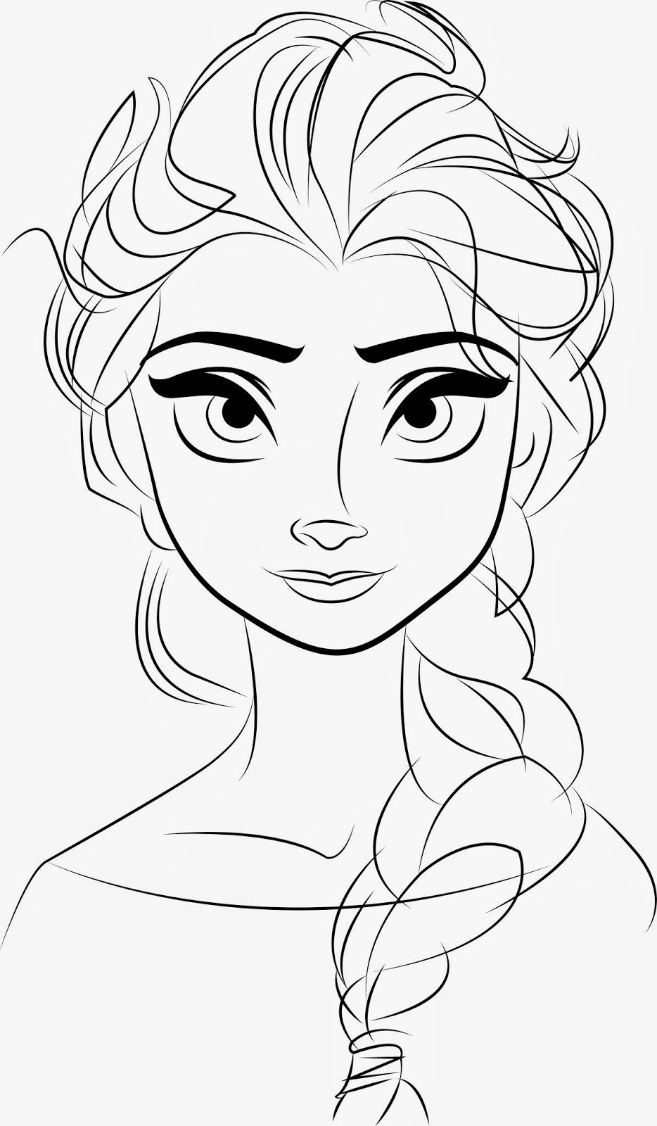 disney Frozen Elsa line drawings