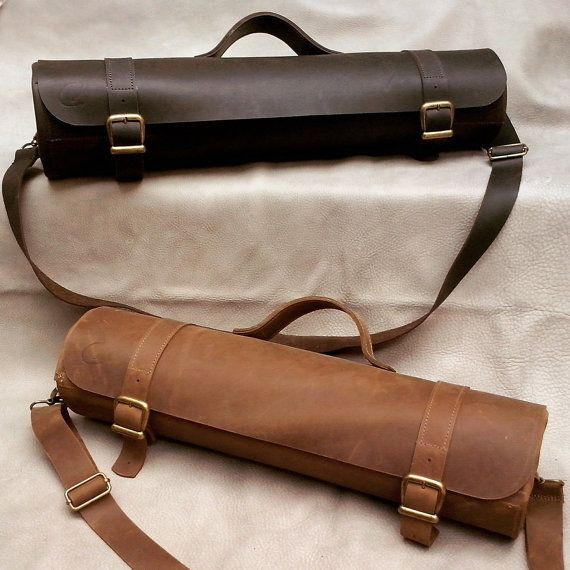 For Chefs With Style Chef Knives Rolled Case Custom Made Of A Very Strong And Thick High Quality Leather Multifunctional Bag