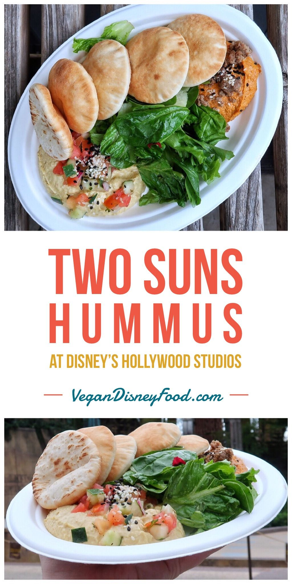 Vegan Two Suns Hummus At Backlot Express In Disney S Hollywood Studios At Walt Disney World Spring Mix Salad Hollywood Studios Disney Salad Mix