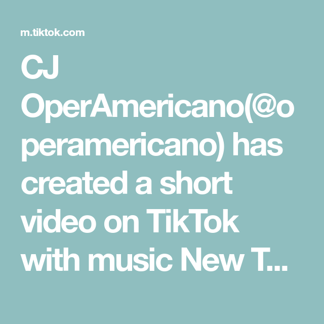 Cj Operamericano Operamericano Has Created A Short Video On Tiktok With Music New Thang Duet With Martine Knot Trick Perfect For Adding A Girly Flair To Di 2020