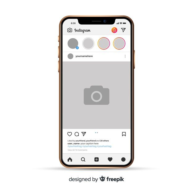 Download Realistic Instagram Photo Frame On Iphone for