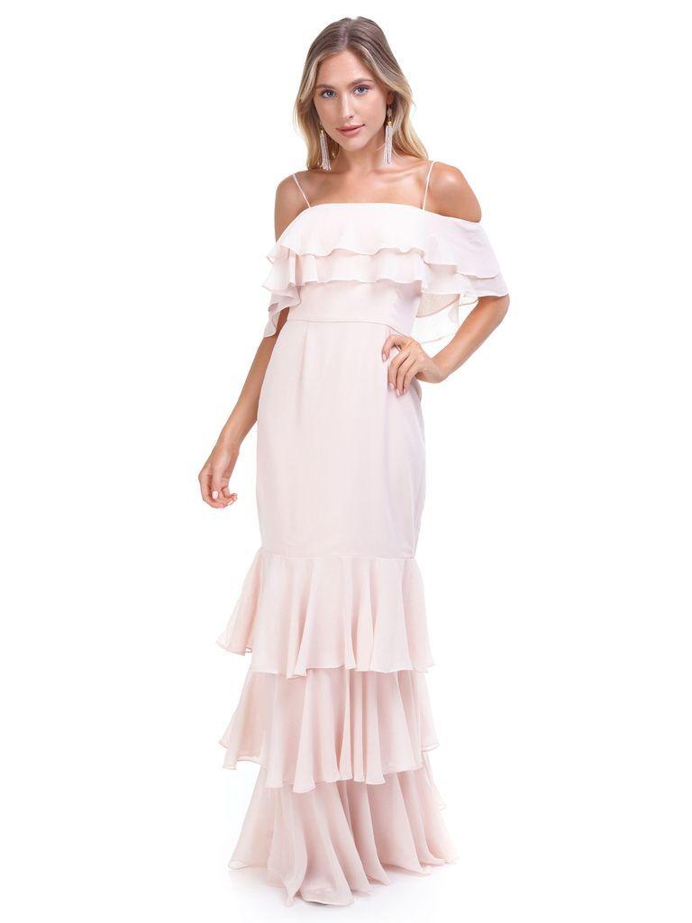 6717dd904f841 WAYF - Lauren Off Shoulder Ruffle Maxi Dress - WAYF - Chelsea Tiered Ruffle  Maxi Dress - #fashionpass #womensfashion #clothingrental #outfits  #outfitideas ...
