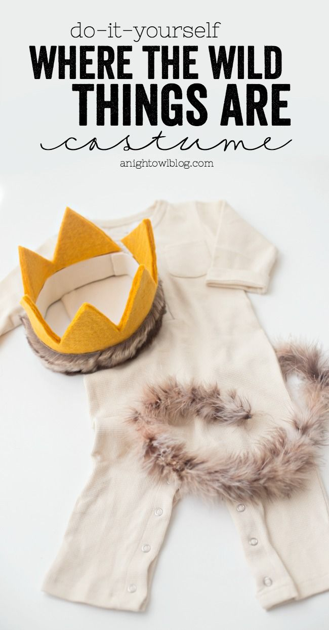 Diy where the wild things are costume pinterest wild things this diy where the wild things are costume is adorable easy and no sew make it for a fraction of the cost of a commercial costume with supplies from solutioingenieria Image collections