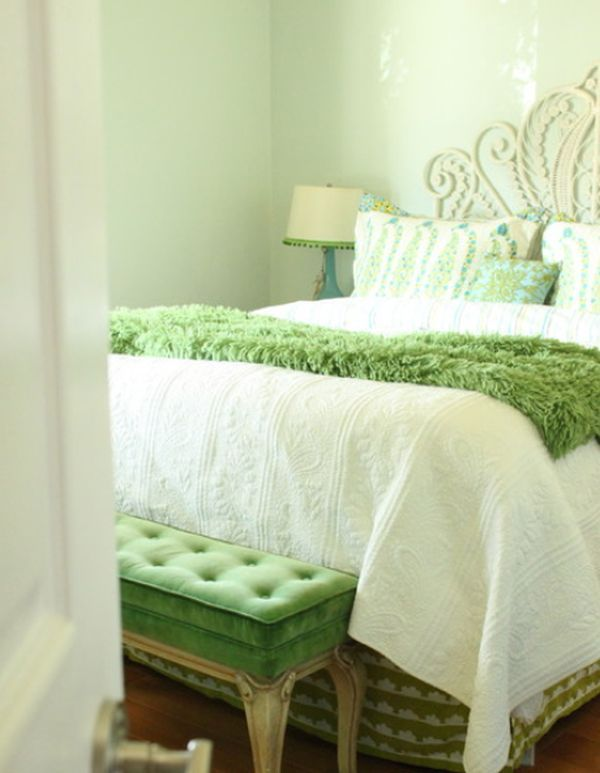 Fresh And Relaxing Green Bedroom Designs And Ideas Fresh Bedroom Bedroom Green Green And White Bedroom