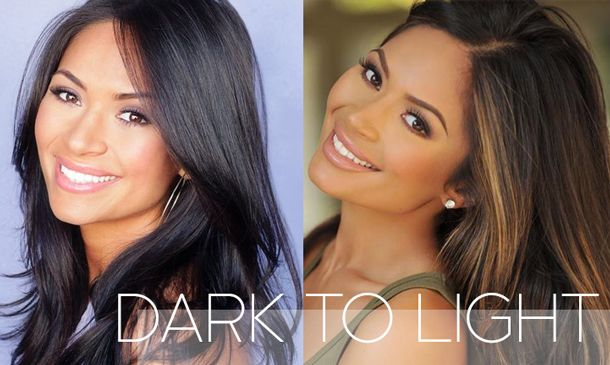 Light To Dark Hair Before And After Hair From Dark To Light With