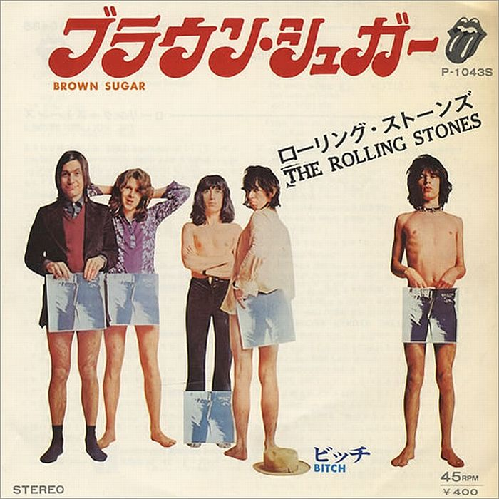 The Rolling Stones - Brown Sugar Japanese single record cover