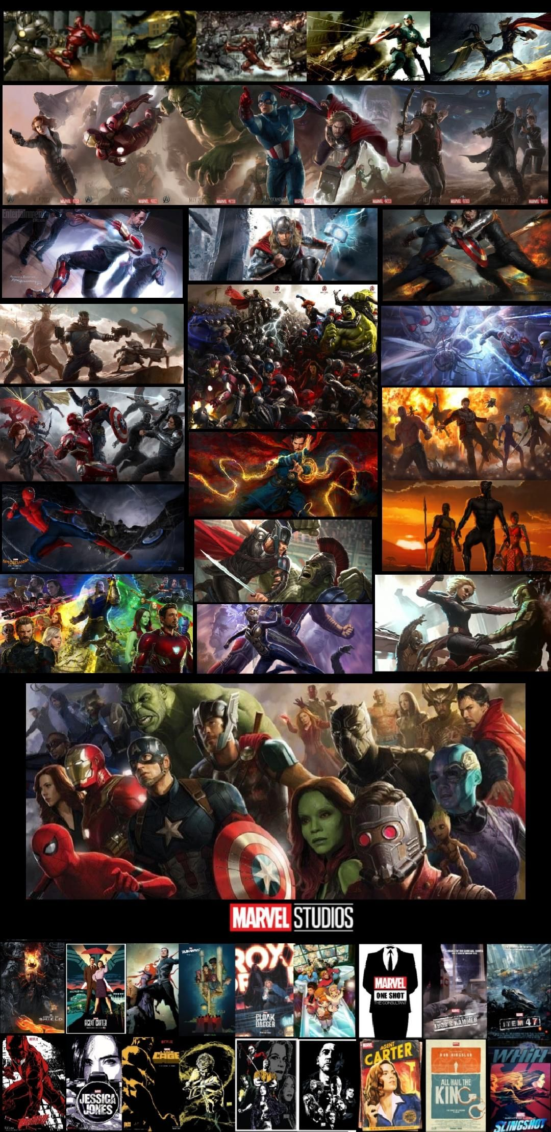 An mcu resume i made using concept arts and my phone