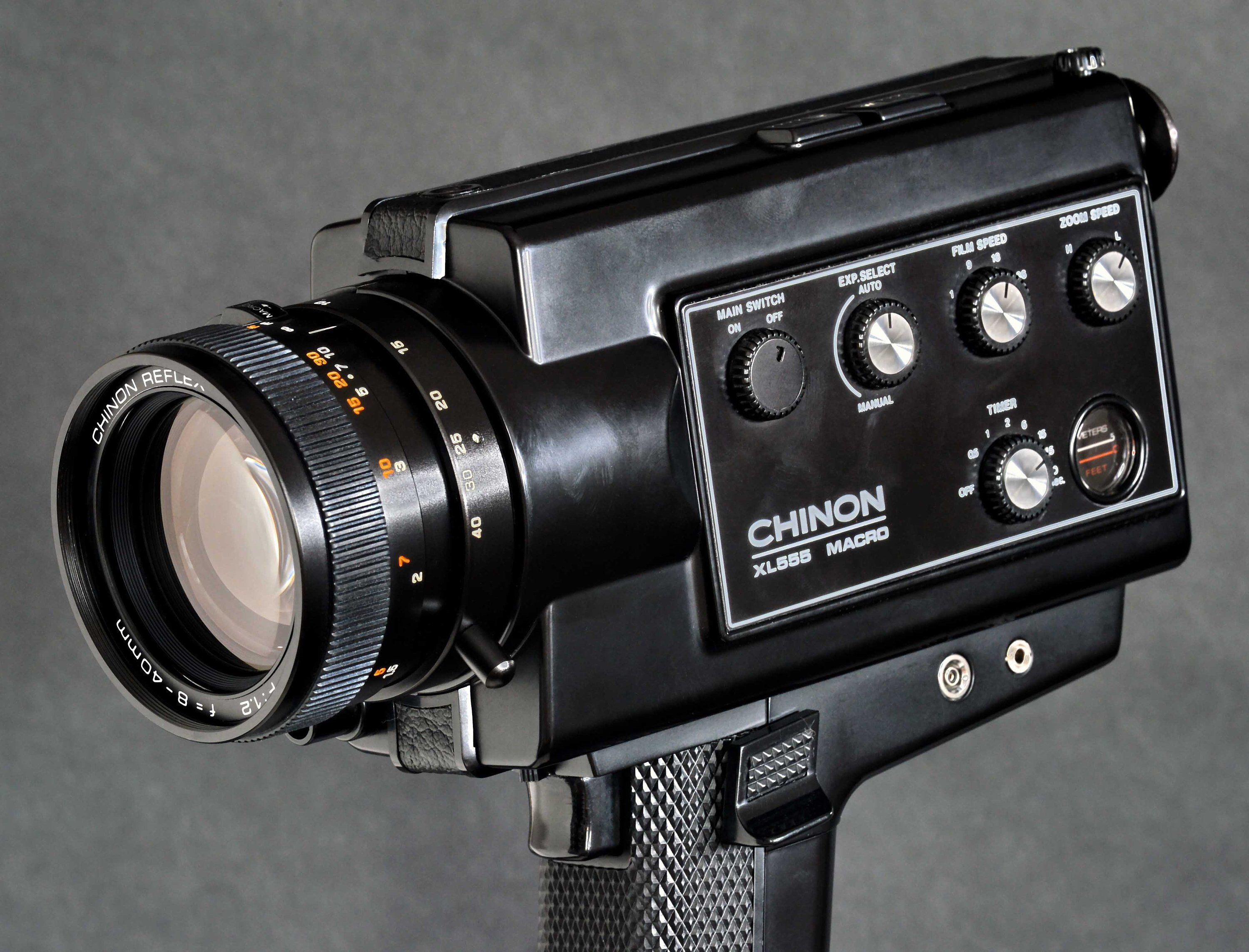 Excited to share this item from my #etsy shop: Chinon XL 555 Super-8 Zoom Movie  Camera w 8-40mm f/1.2 Macro Reflex Zoom Lens Pro Version MiNTY !
