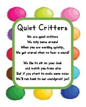 Quiet Critter Poem Label for Jar #quietcritters