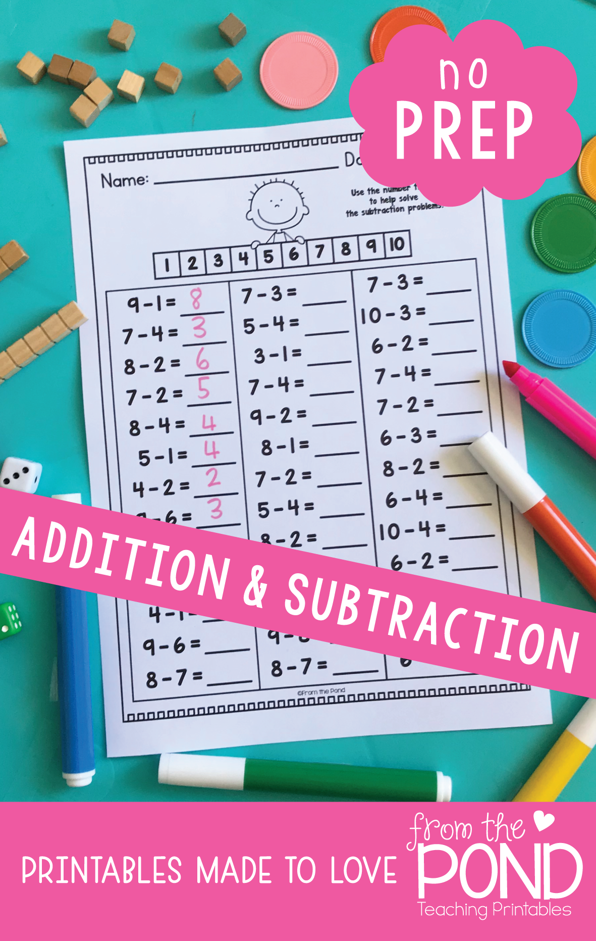 Addition And Subtraction Worksheet Activities