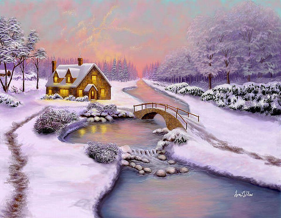 winterzeit viano ne krajinky in 2019 leinwandmalerei. Black Bedroom Furniture Sets. Home Design Ideas