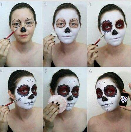 sugar skull howto  halloween makeup diy sugar skull