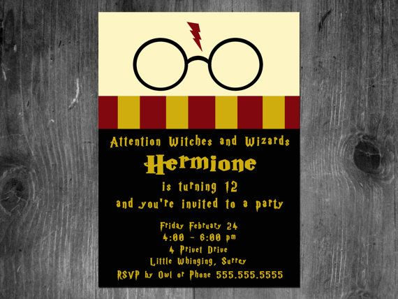 39+ Downloadable harry potter birthday invitations inspirations