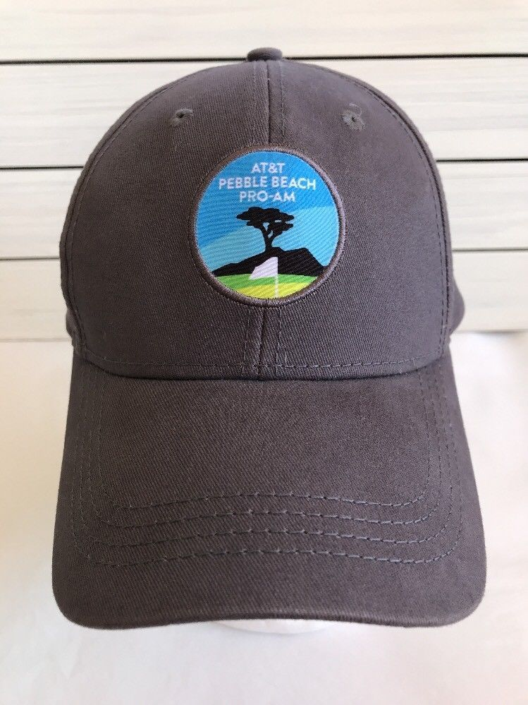 At T Pebble Beach National Pro Am Golf Cap Hat Adjustable New Without Tags Gray Americandrygoods Baseballcap Caps Hats Hats Mens Accessories