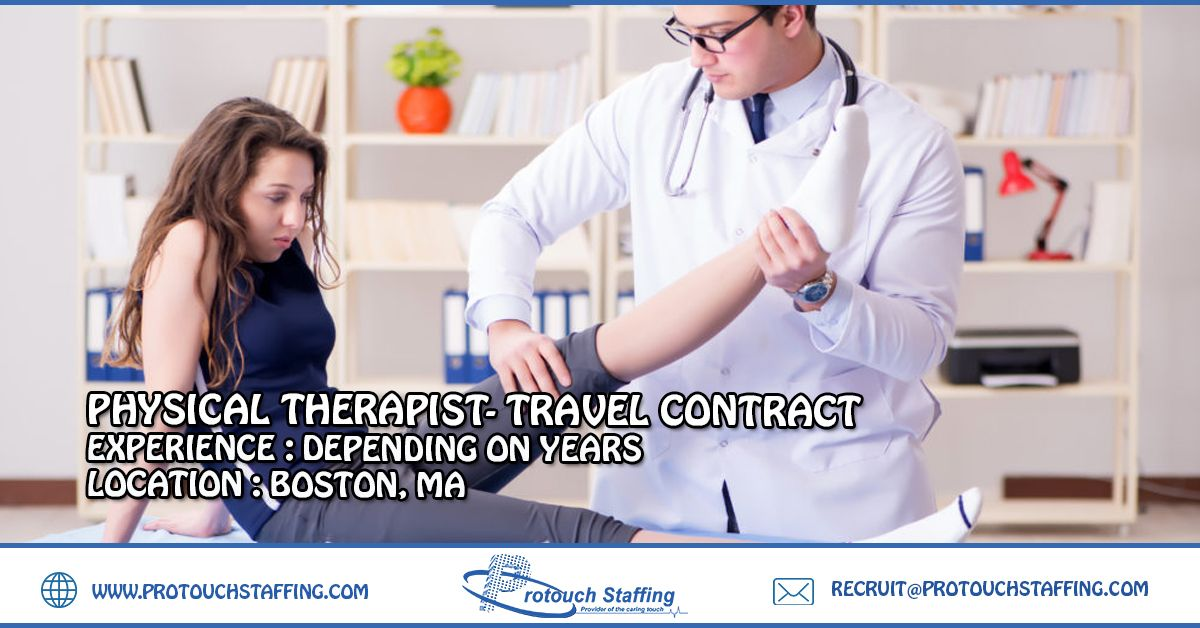 Physical therapist travel contract with images