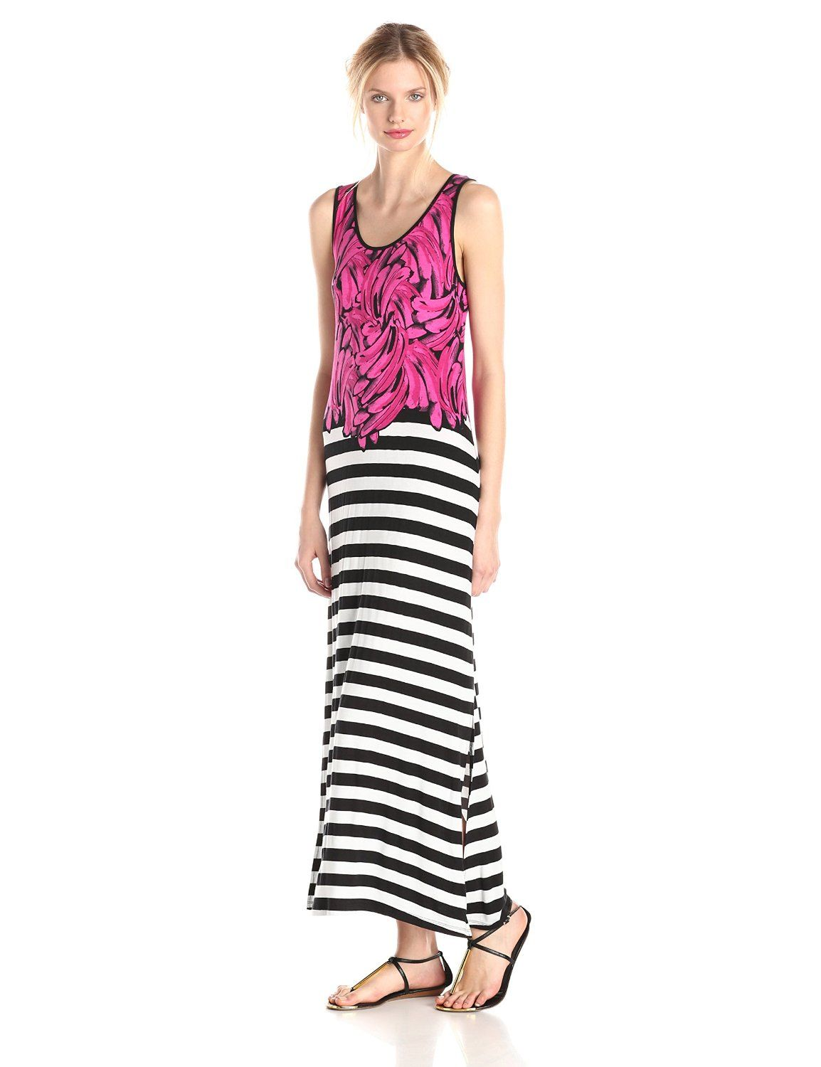 Bananas and Stripes Maxi Dress by kensie