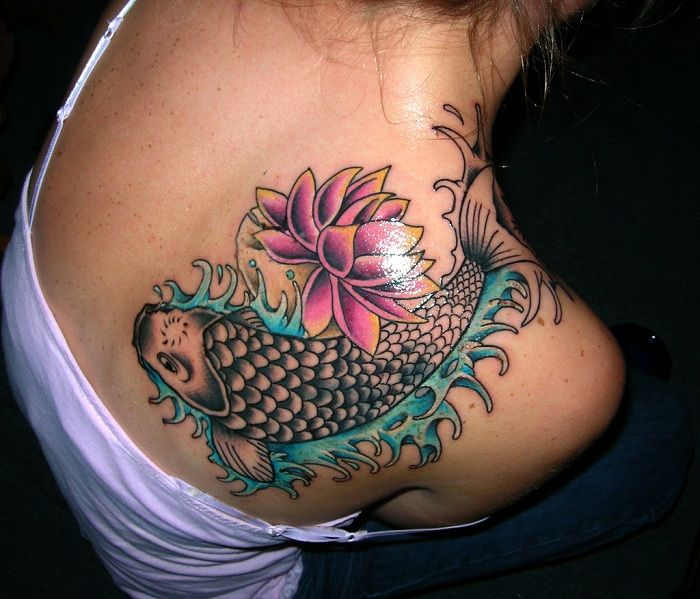 Fish Tattoos For Women Cool Koi Fish Tattoo Design For Women On