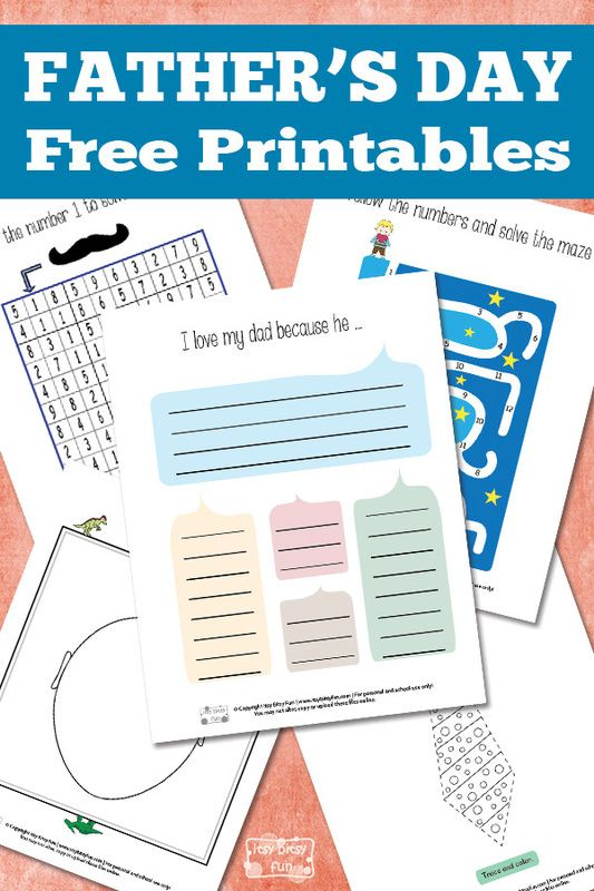 Easy Father\'s Day Printables | Easy, Worksheets and Free printable