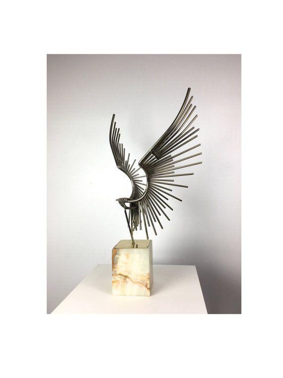 steel rod sculpture Vintage