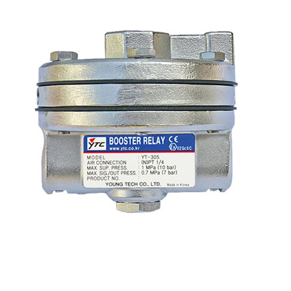 #Volumebooster relay, YT-305 is used in #pneumatic #controlvalve which receives positioner's output signal and supply #airpressure actuator to reduce response and adjusting time.See More-http://bit.ly/1YqMp1x