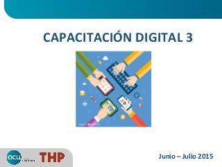 Taller de Capacitación digital - OCU (día 3)