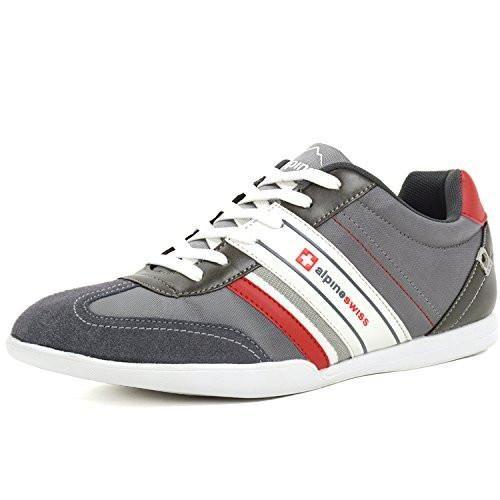 official photos 7f777 d44b0 Nylon Mens Shoes Alpine Swiss Mens Ivan Suede Trim Retro Tennis Shoes