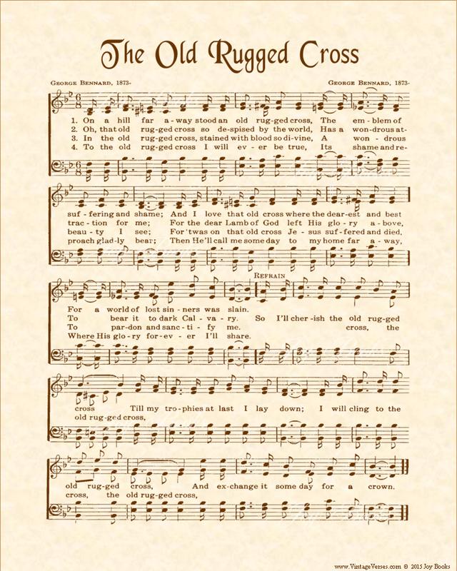 the old rugged cross sheet music - Heart.impulsar.co