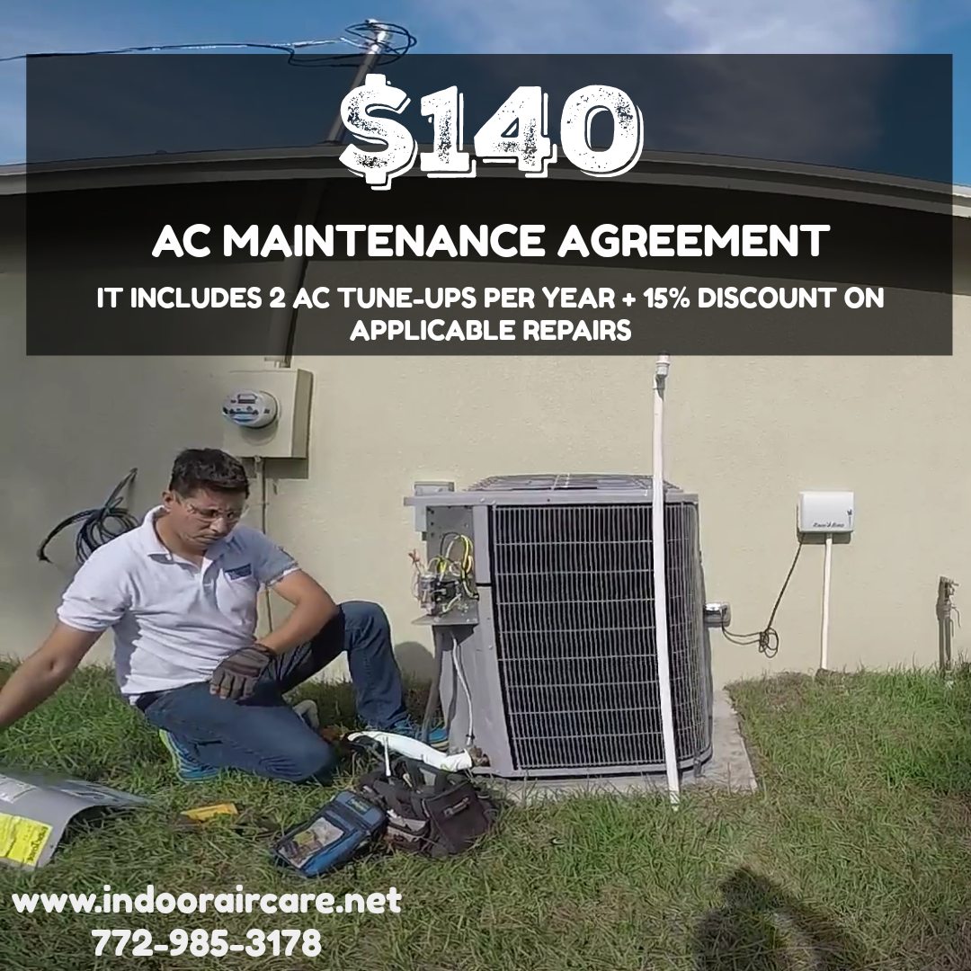 Indoor Air Care Inc offers maintenance plans to protect