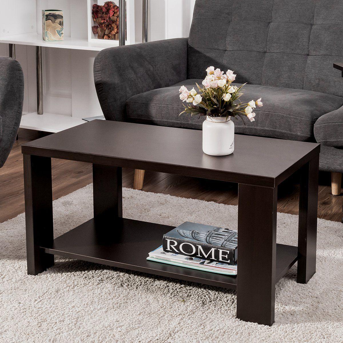 Tangkula Coffee Table Modern Wood Rectangular Living Room Furniture With Storage Shelf En Cocktail Tables Living Room Coffee Table Modern Furniture Living Room [ 1200 x 1200 Pixel ]