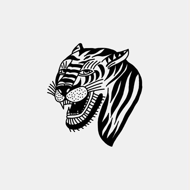 Pin By Maria On Ink Tiger Illustration Tattoo Illustration Tiger Head Tattoo