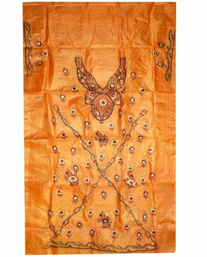 Brown Tussar Silk Suit Piece 5a | Tussar Silk Suit Piece ...