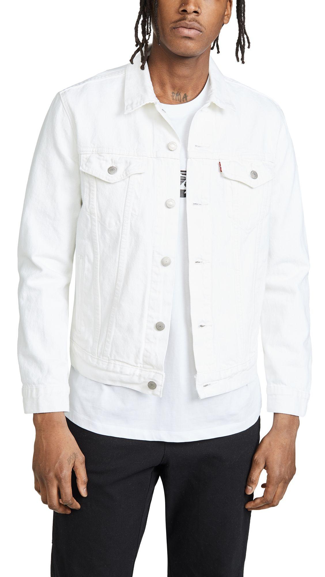 Levi S White Denim Jacket Levis Cloth White Denim Jacket White Denim Jacket Outfit Denim Jacket [ 2000 x 1128 Pixel ]