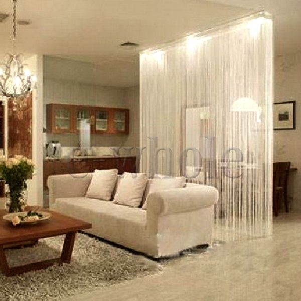 Branco fringe porta janela painel divisor cordas cortina faixa ...