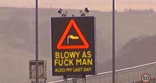 This Scottish sign operator.