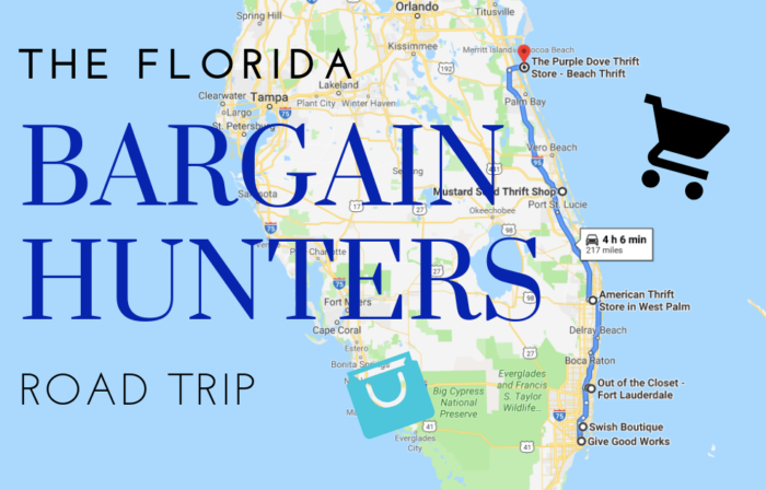 This Bargain Hunters Road Trip Will Take You To Some Of The Best Thrift Stores In Florida Road Trip Thrifting Trip