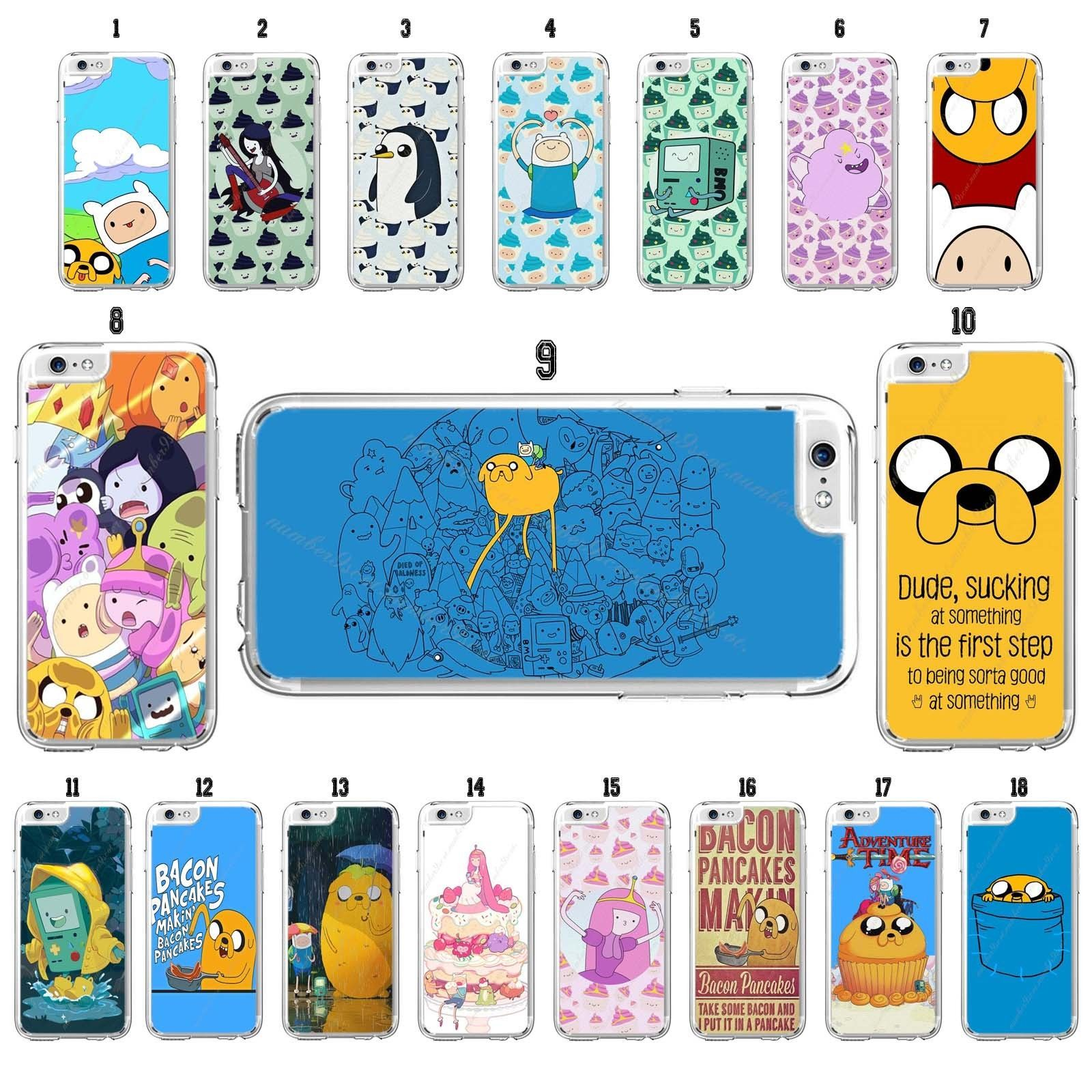 Adventure Time Finn & Jake Case For Iphone 4 4S 5 5C 5S 6 6S 7 Plus