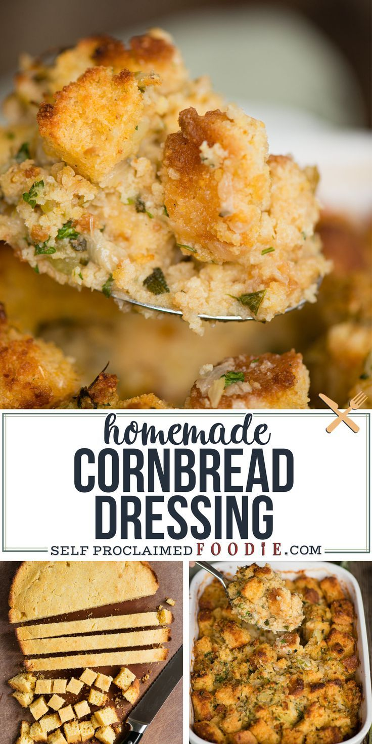 Homemade Cornbread Dressing Recipe | Self Proclaimed Foodie