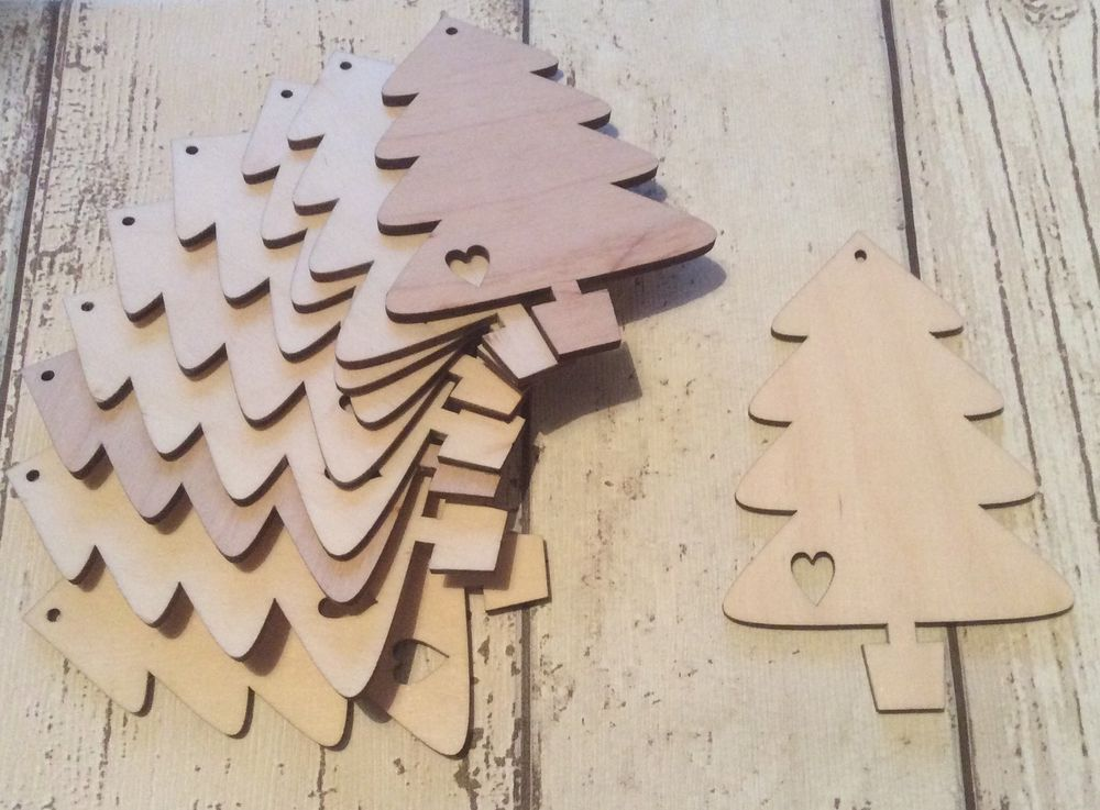christmas craft set of 10 laser cut wooden christmas baubles unpainted