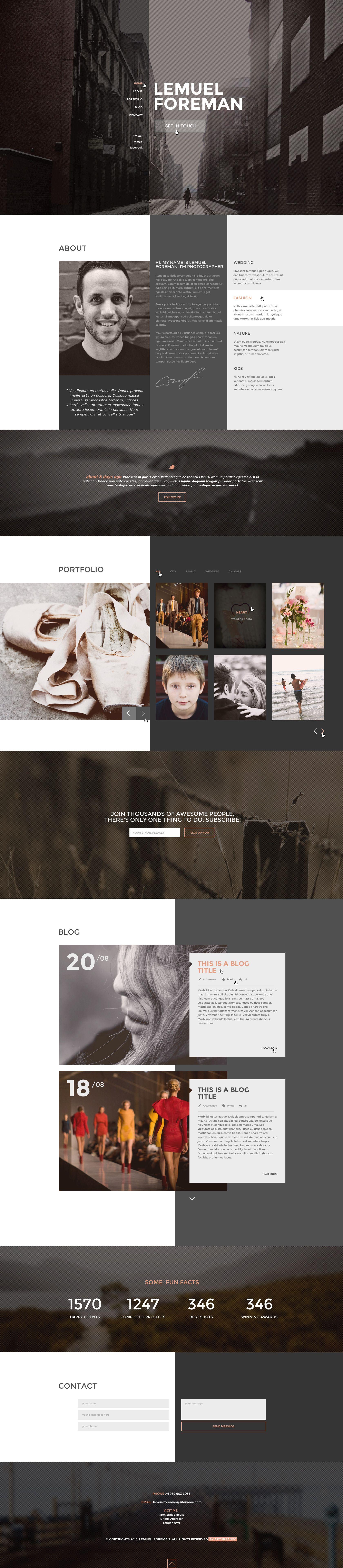 LF - One Page Multi Purpose PSD Theme - PSD Templates
