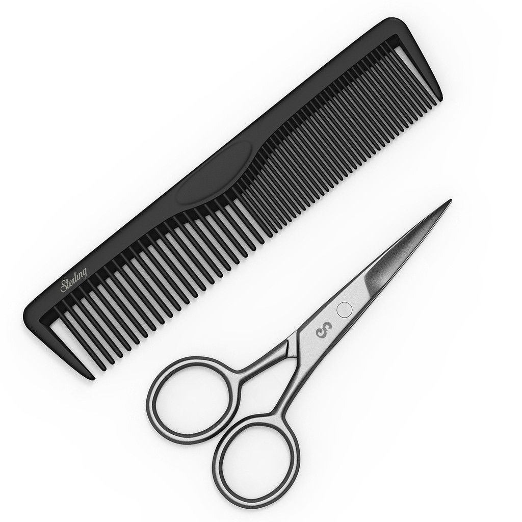 how to cut sideburns with scissors
